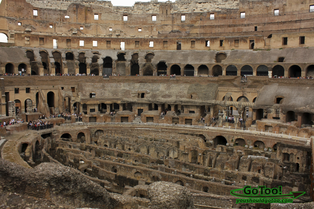 Inside the Colosseum Rome Italy