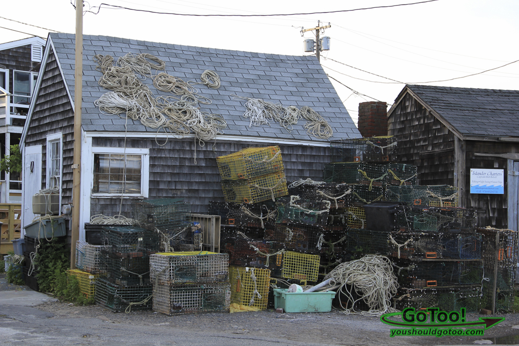 Lobster Traps on Building MA