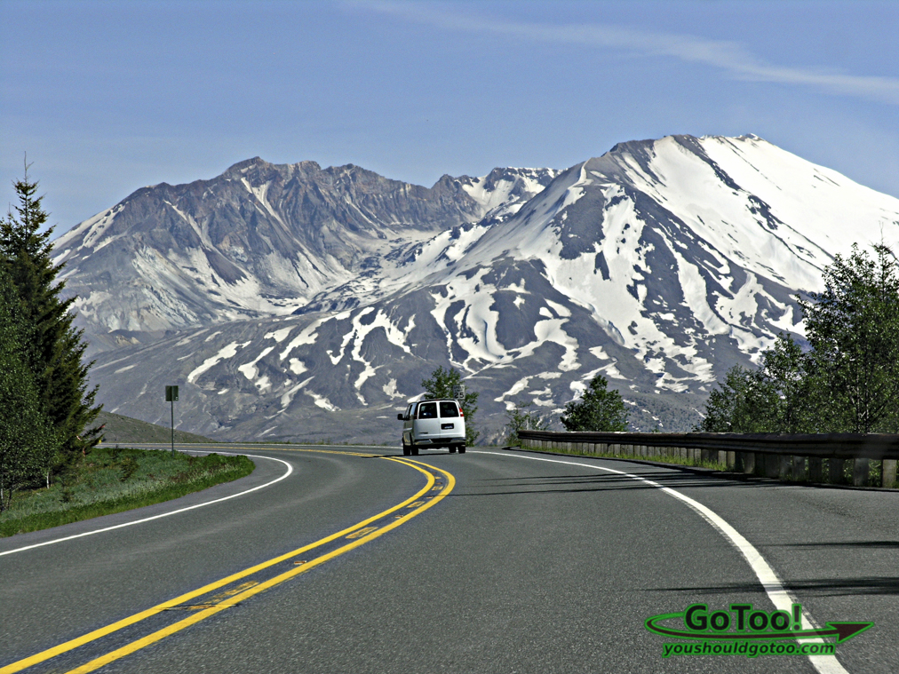 Road to Mt St Helens Washington