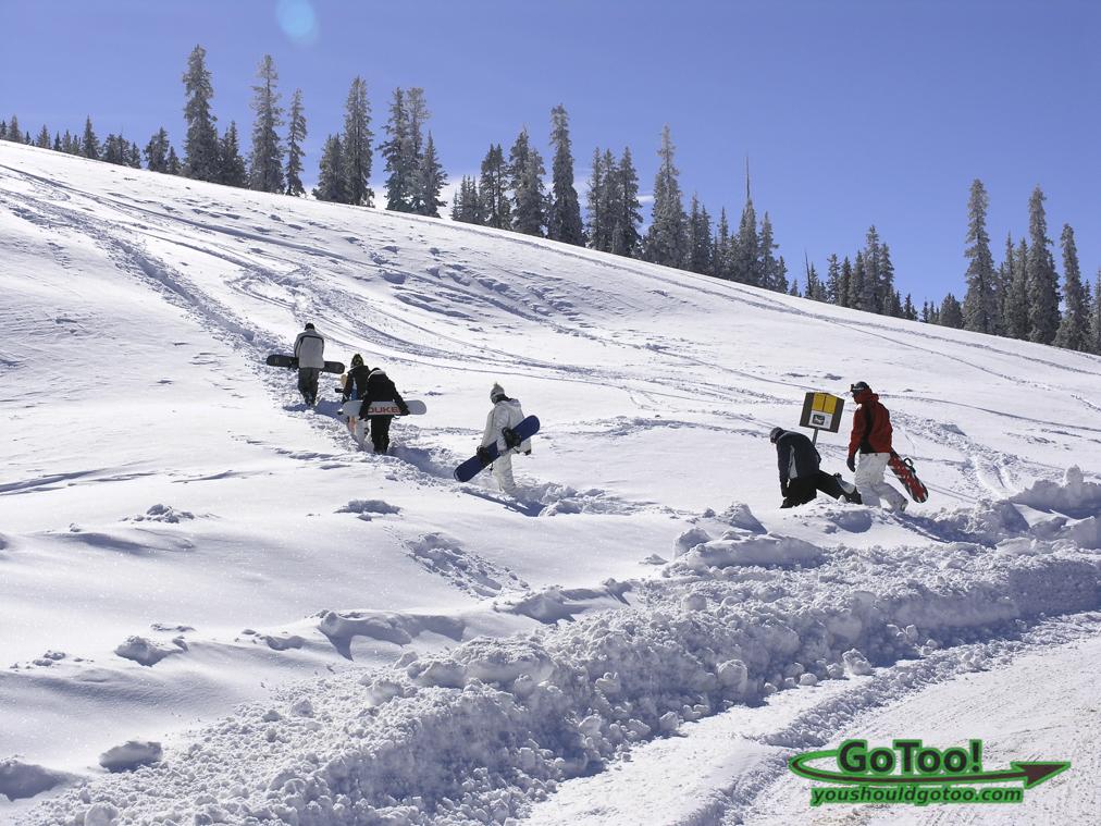 Snow Boarding in Berthound Pass Colorado
