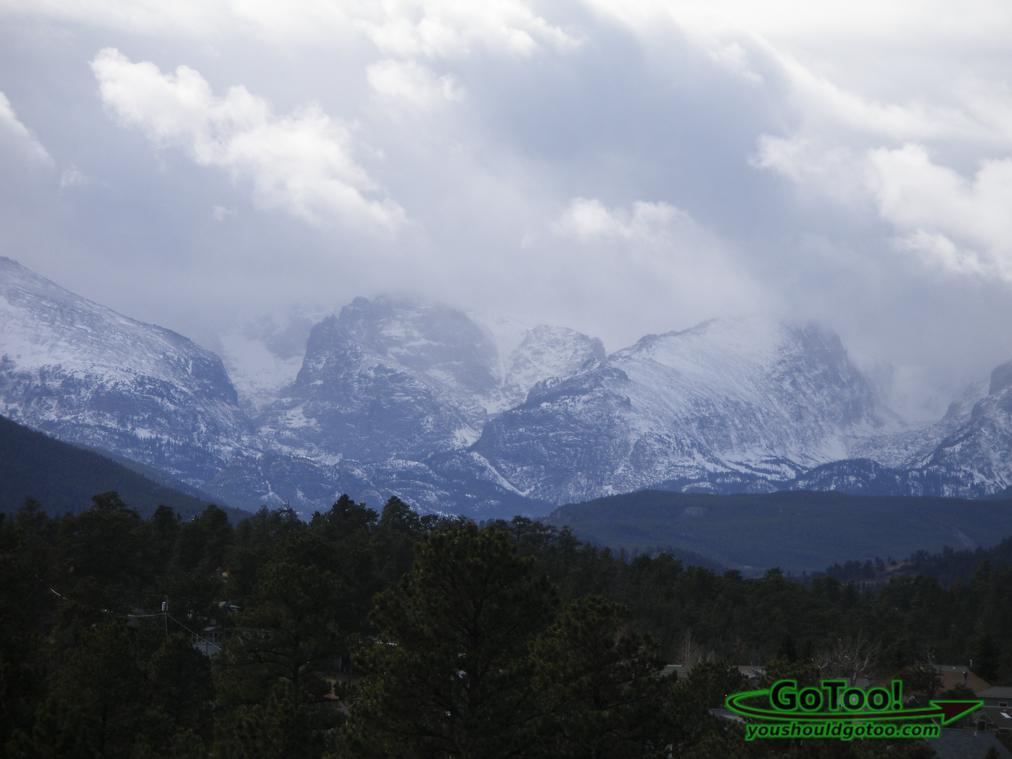 Snow Storm over the Rocky Mountains Colorado