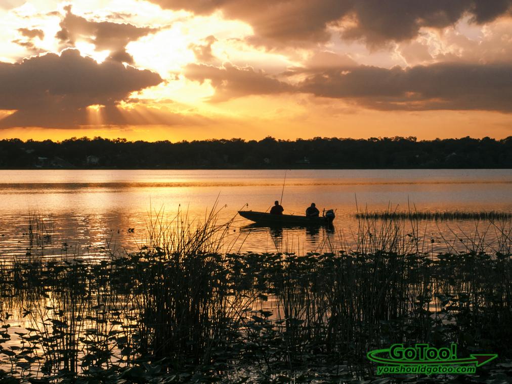 Sunny fishing on Lake in Florida
