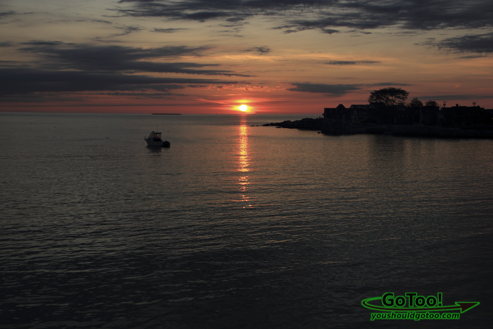 Sunrise with Boat in Rockport MA