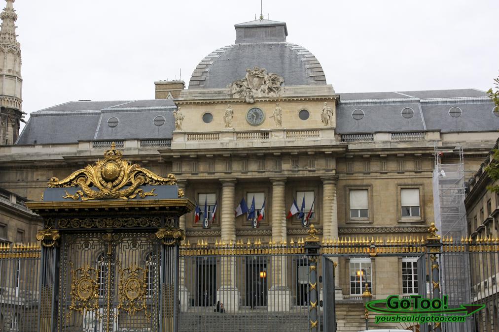 Gold Gilded Building Paris France