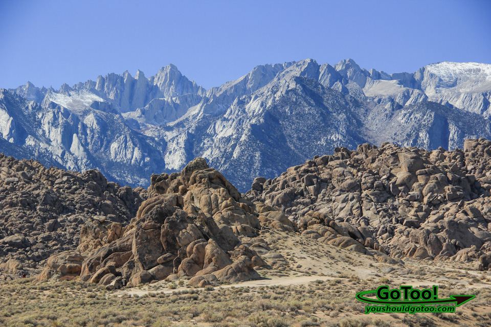 Alabama Hills with Sierra Nevada Mountains in Background