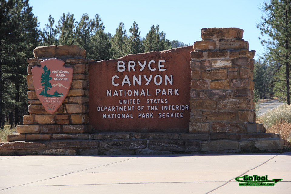Bryce Canyon National Park Utah Entrance Sign