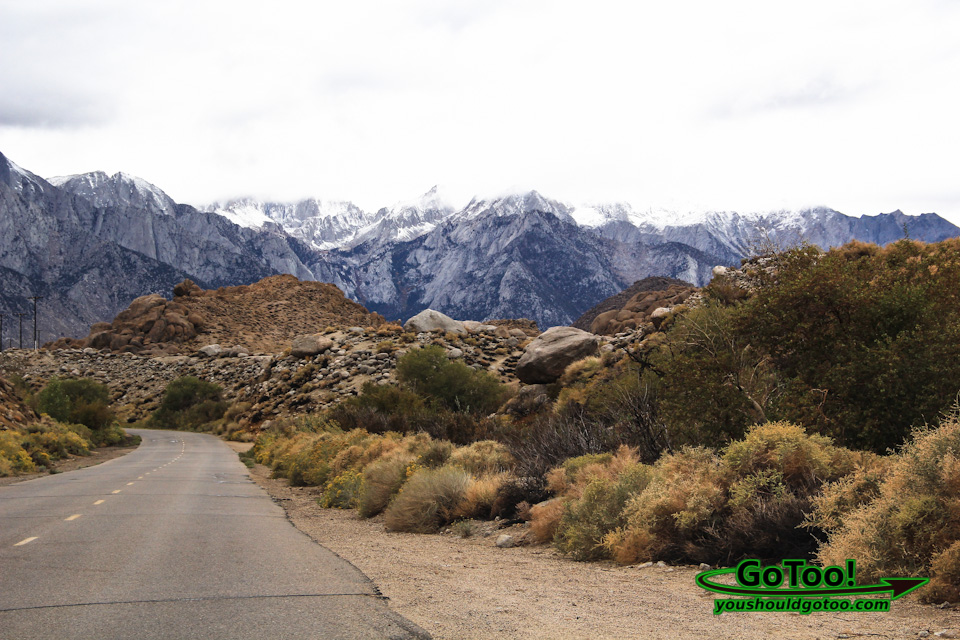 Driving Towards Mt. Whitney and Alabama Hills