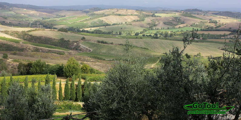 Tuscany, Italy and the Walled City of Montepulciano