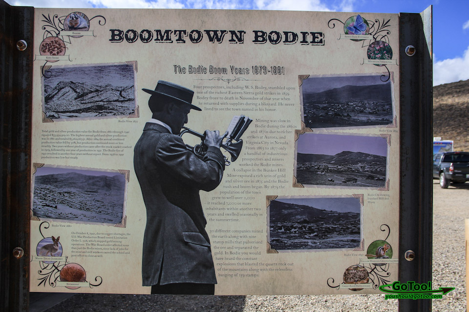 Boomtown Bodie State Park Sign