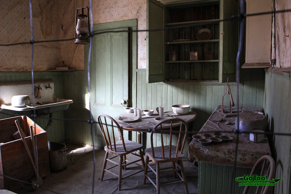 Interior of Abandoned Home Bodie Ghost Town