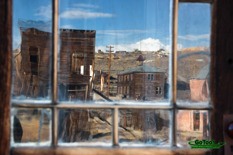 Town of Bodie View from Inside Abandoned Building