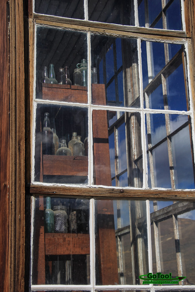 Window View of James Stuart Cain House Bodie State Park