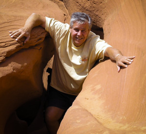Lou Entering Lower Antelope Canyon